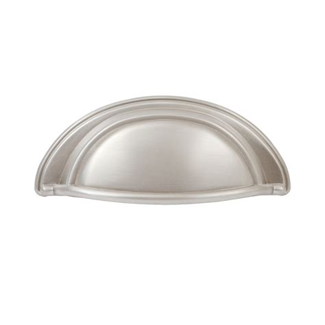 Kitchen Cabinet Cup Pulls by Shop Sumner Oval 3 In Center To Center Satin Nickel