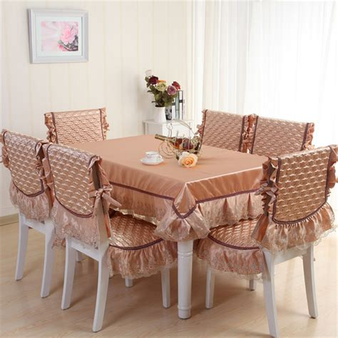 Dining Table Cloth Sets 2015 New Euorpen Style Classic Dining Table Cloth Set Silk Chair Cover Cushion Fashion