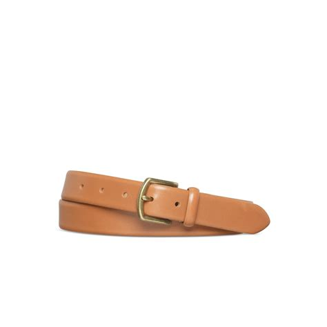 polo ralph leather dress belt in brown for lyst