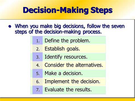 the seven decisions chapter 15 making career decisions ppt video online download