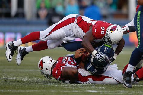 cardinals vs seahawks final score revenge of the birds russell wilson in arizona cardinals v seattle seahawks