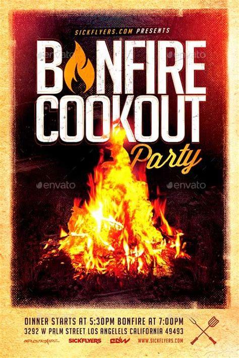 bonfire cookout party flyer http ffflyer com bonfire