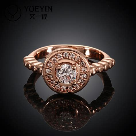 Sale Anting Korea Big Ring Color Earrings Murah sale korean austrian rings for couples engagement ring wedding band bague femme 18k