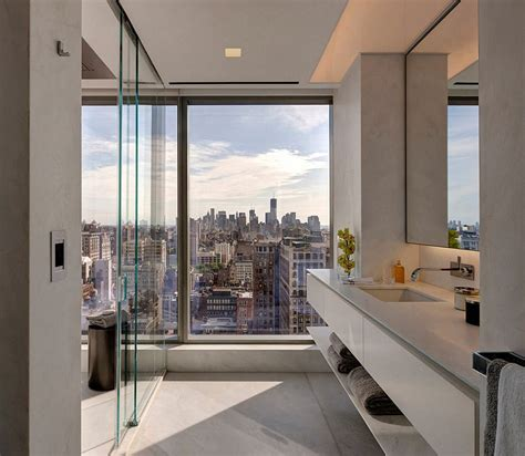 new york apartment bathrooms refined apartment in new york city by andre kikoski architect
