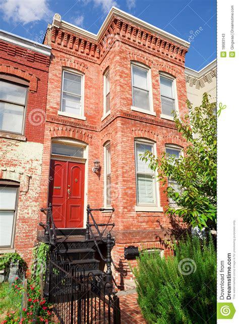 Second Empire Floor Plans red brick italianate row house home washington dc stock