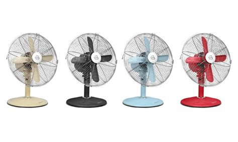 vintage look pedestal fan swan retro style fan groupon goods