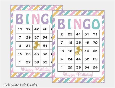 printable unicorn bingo 100 unicorn birthday bingo cards printable download pink