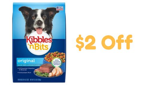 printable coupons and deals kibbles n bits dog food kibbles n bits coupon dog food 2 88 southern savers