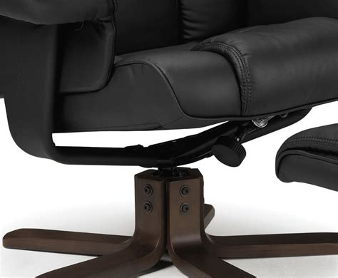 faux leather recliner chair malmo black faux leather recliner chair with footstool