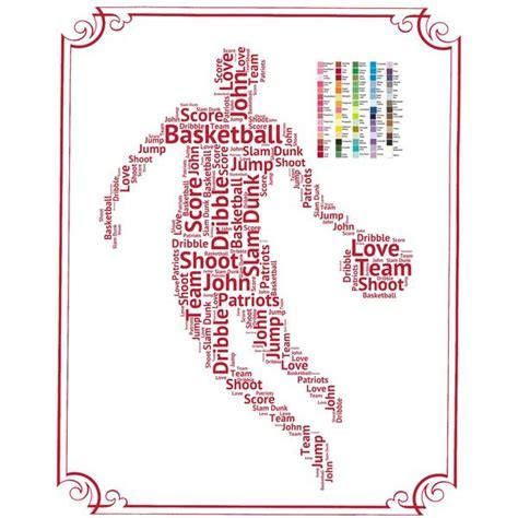 PERSONALIZED Basketball Gift   Basketball Gift Word Art