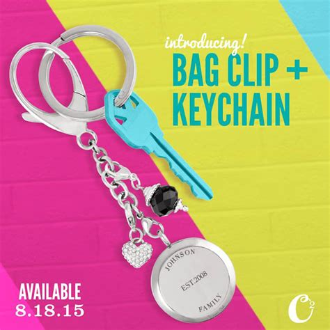 Origami Owl Keychain - origami owl bag clip and key chain origami owl at
