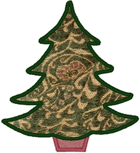 christmas tree applique pattern christmas tree applique embroidery design