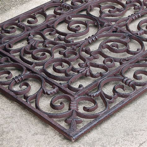 Cast Iron Doormat Traditional Rectangular Outdoor Cast Iron Doormat By Dibor