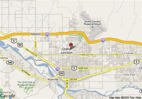 grand junction colorado map map of residence inn by marriott grand junction grand