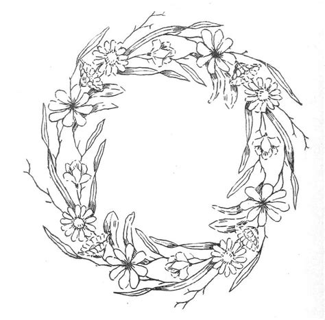 flower wreath coloring page 17 best ideas about floral embroidery patterns on