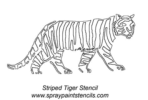 tiger template printable stencils listing s s