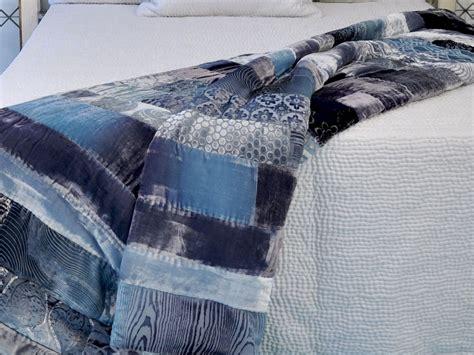 Velvet Patchwork Bedspread - discontinued kevin obrien studio bedding velvet mosaic