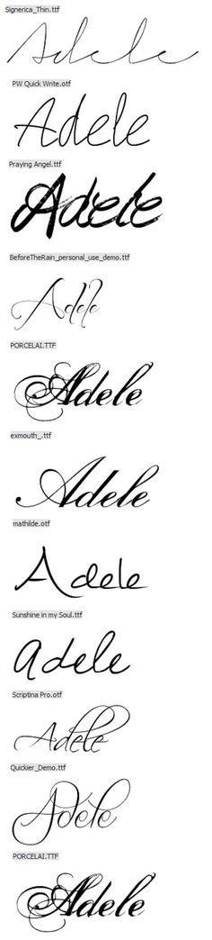 tattoo font signature cursive letter stencils answers individual stencil