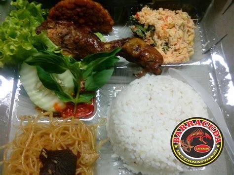 katering rumah makan barracuda menu nasi kotak