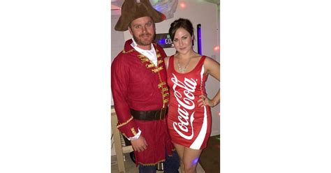 captain  coke homemade halloween couples costumes