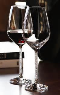 party glasses swarovski crystal swarovski crystalline red wine glasses pair
