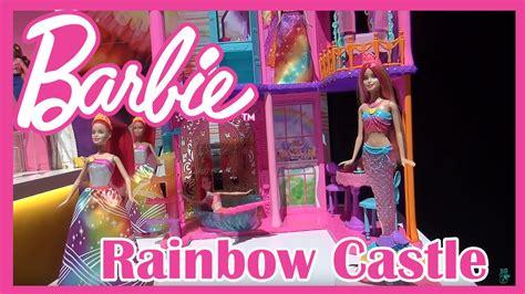 barbie castle house new barbie house rainbow castle dreamtopia dreamhouse youtube