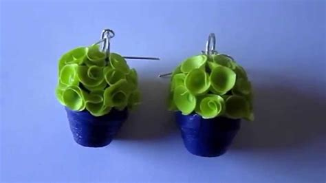 paper flower pot tutorial handmade jewelry paper quilling flower pot earrings not