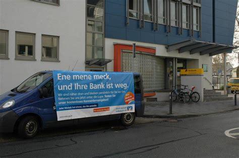 bank guerilla marketing guerilla marketing beispiel volksbank gross gerau