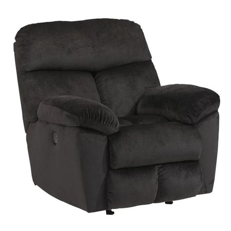 black rocker recliner ashley saul fabric power rocker recliner in black 2230198