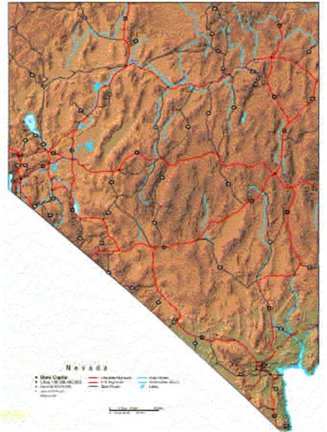 nevada physical map physical geography of nevada pictures to pin on
