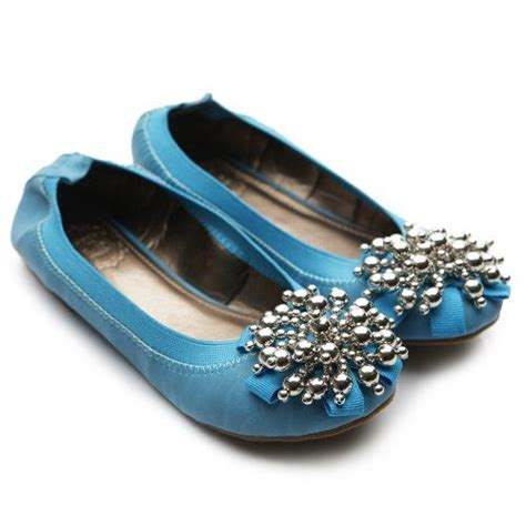 flat turquoise shoes ollio s ballet shoe soft silver bead accent