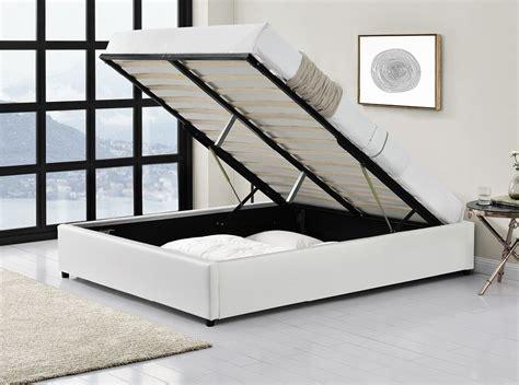 lit matelas sommier lit complet avec cadre de lit et coffre de rangement