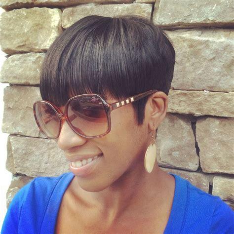 bowl cut short hair style  relaxed hair short styles  black women  textured hair