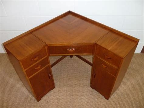 heals deco walnut corner desk 130341