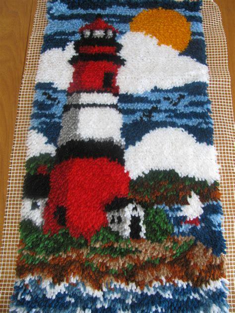 latch hook rug backing lighthouse wall hanging large lighthouse latch hook