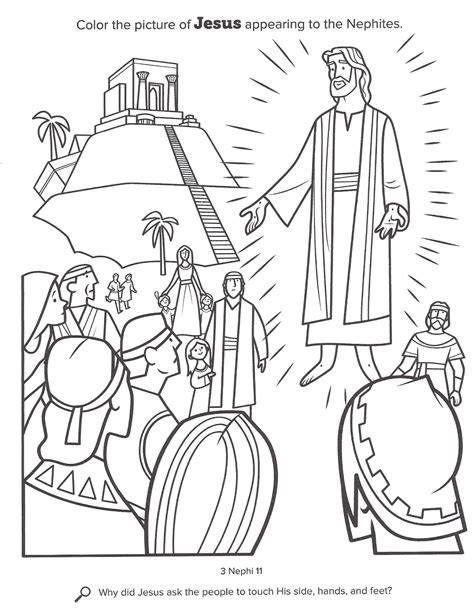 lds coloring pages of the savior happy clean living primary 4 lesson 33
