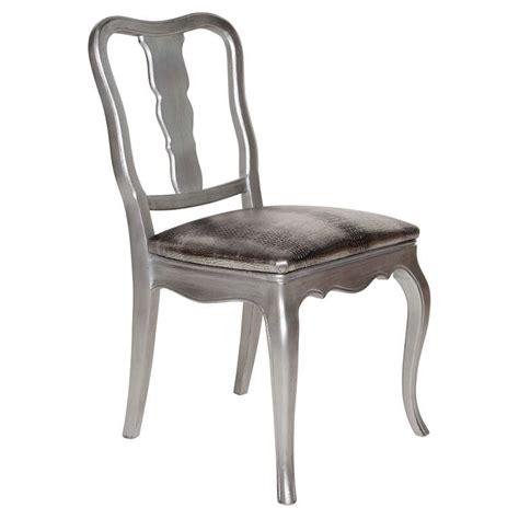 silver vanity chairs antique silver leaf and embossed metallic croc vanity or