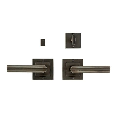 Interior Door Sets Flute Privacy Set 3 Quot X 3 Quot Privacy Mortise Bolt Latch E103 Rocky Mountain Hardware