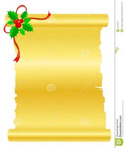 christmas scroll paper royalty free stock photography