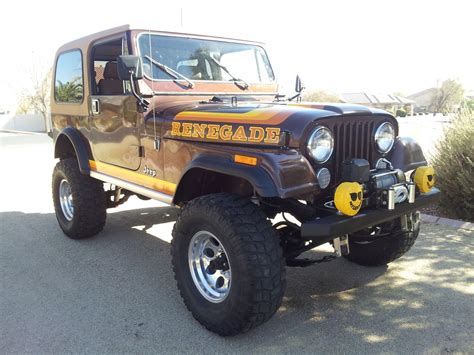 brown jeep cj7 renegade 1982 jeep cj7 renegade the jeep farm