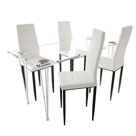 s line stoelen vidaxl nl eetkamerset 4 witte slim line stoelen en 1