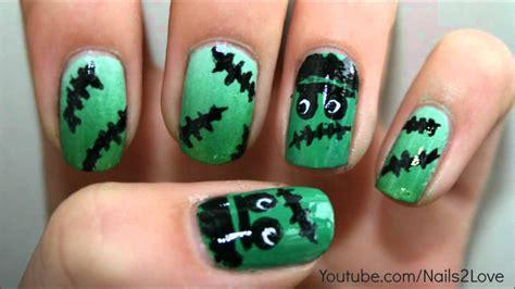 halloween nail art tutorial youtube frankenstein for halloween nail art tutorial collab with
