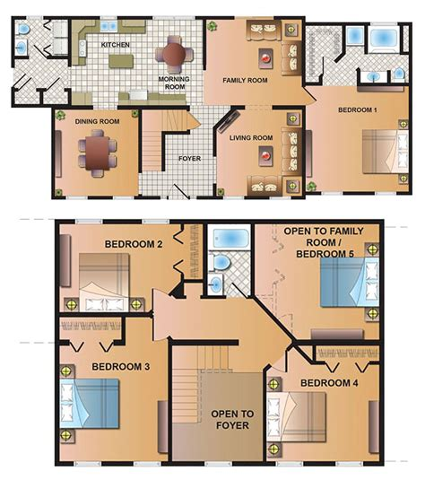 2 story mobile homes floor plans