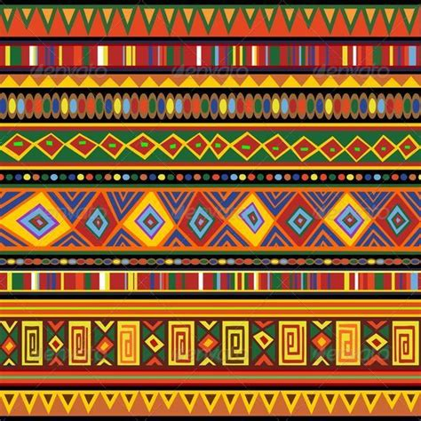 Kerala Home Design Software by Ethnic Colorful Pattern Africa Art Graphicriver