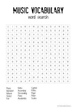 theory lesson   word search activity  prep