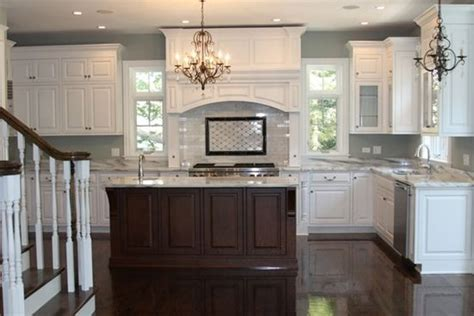 dark kitchen island white kitchen dark island house ideas pinterest