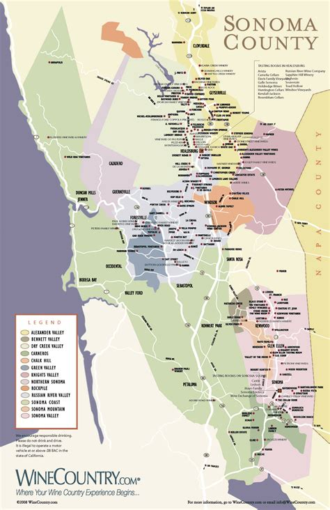 sonoma winery map napa and sonoma wine tours elite limousine