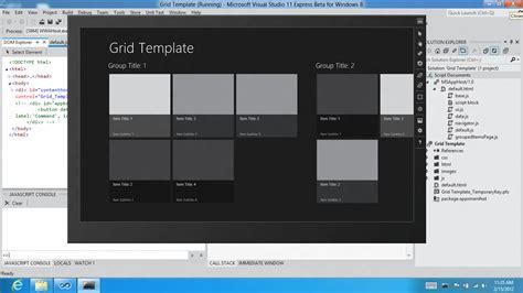 templates for visual studio visual studio 11 and net framework 4 5 and windows 8