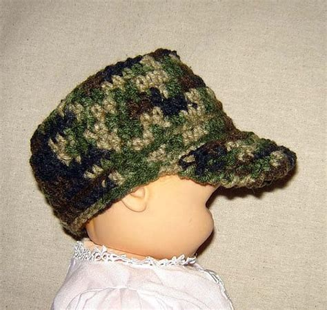 free crochet pattern for army hats military camouflage baby hat newborn baby toddler