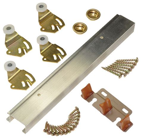 Johnson Closet Door Hardware with Sliding Bypass Door Hardware Contemporary Other Metro By Johnson Hardware